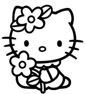 Crayola giant coloring pages hello kitty ~ דפי צביעה הלו קיטי - פרחים